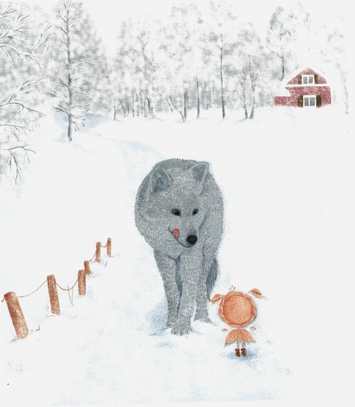 le loup et la galette crayon OK